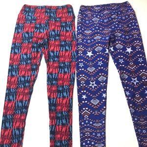 2 pair LuLaRoe OS Leggings